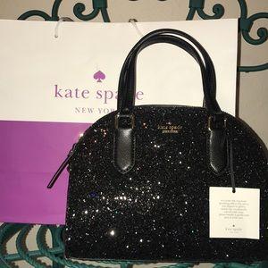 NEW Kate Spade Mini Reiley Black Glitter Bag